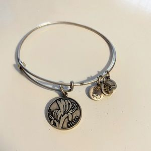 Alex And Ani Sister expandable wire bracelet